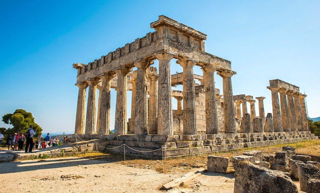 Temple of Afaia in Aegina island - Greece