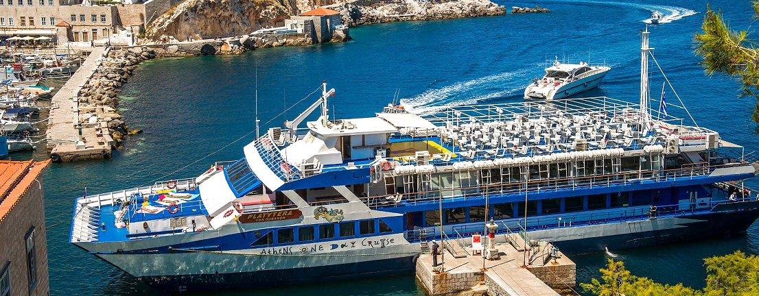 Cruise ship in Hydra island - Greece