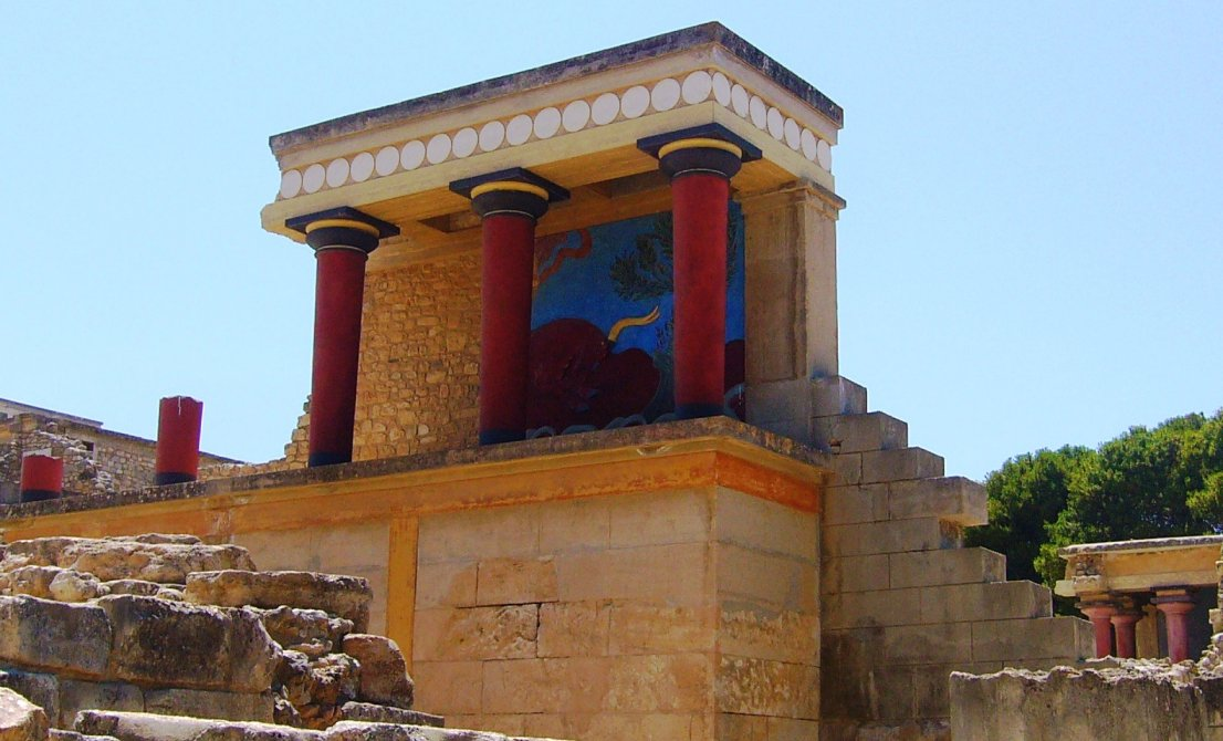 Knossos palace in Heraklion Crete (Greece)
