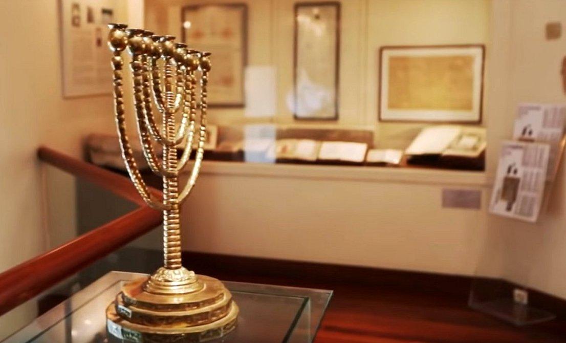 Menorah at the Jewish Museum of Athens