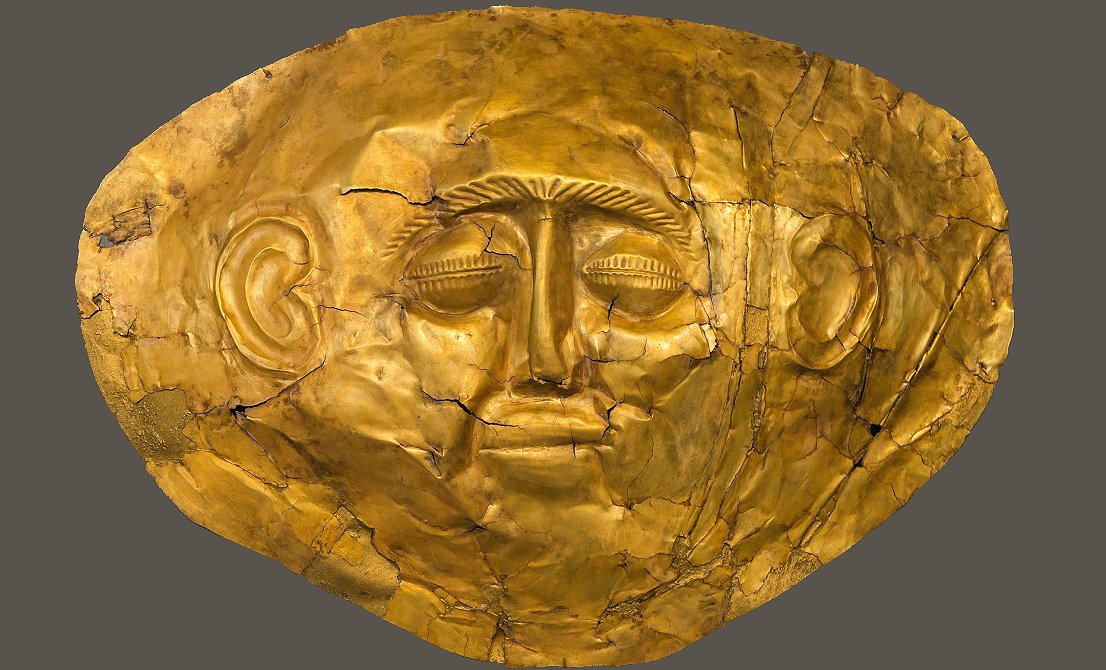 Gold mask discovered in Mycenae