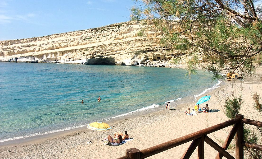 Matala beach - Crete island - Greece